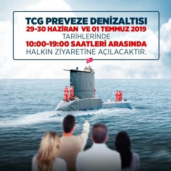 Tcg Preveze ( S-353 ) İsimli Askeri Denizaltı Ziyarete Açıldı.